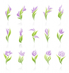 floral logo template vector image