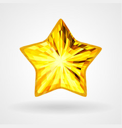 gold five pointed star in triangular design vector image