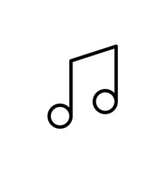 line music note icon on white background vector image