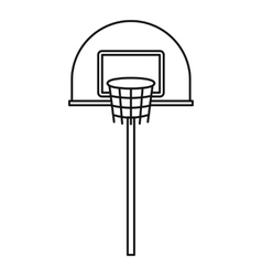 Outdoor basketball hoop icon outline style vector image vector image