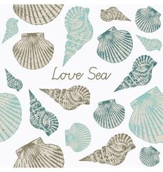 Seashells Seamless background vector image vector image