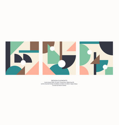 abstract elements in retro style a template vector image