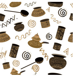 ancient-utensils-pattern vector image