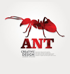 ant geometric paper craft style vector image