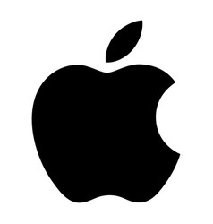 apple silhouette with a leaf vector image