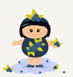 baby in the blueberry suit vector image