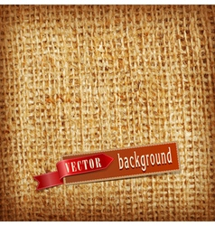 Background texture burlap vector