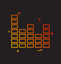 bar graph icon design vector image