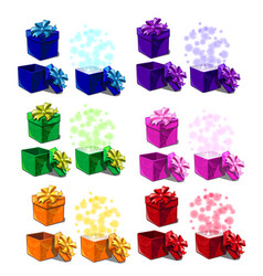 big set of gift boxes isolated on white background vector image