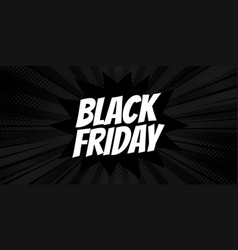 black friday logo comic style design vector image