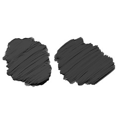 Black thick acrylic watercolor paint texture vector