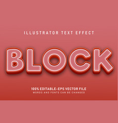block text effect vector image