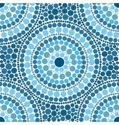 Blue colors dotted circles seamless pattern vector image