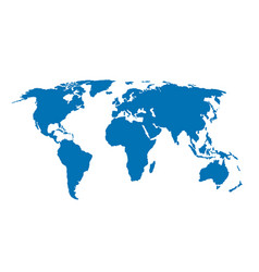 blue world map isolated vector image