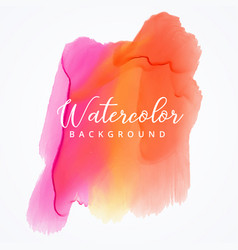 bright colorful watercolor stain background vector image