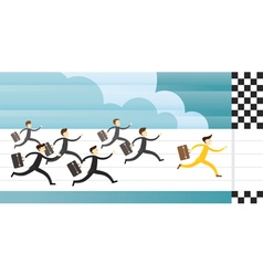 Business Race and Run to Goal vector image