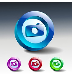 camera icon symbol lens photo vector image
