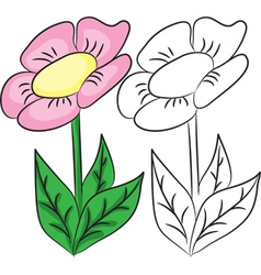 Cartoon flower vector