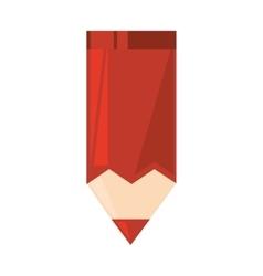 Cartoon red color paint school vector