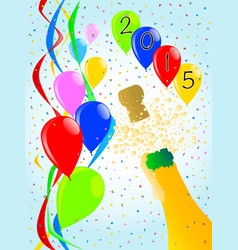 champagne party 2015 vector image