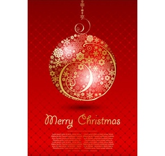 Christmas red vector image