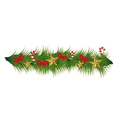 Christmas wreath decoration icon vector