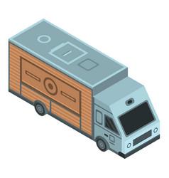 coffee truck icon isometric style vector image