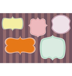 Collection of sweet retro colorful frames on dark vector image