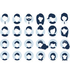 collection people avatars vector image