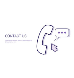 Contact us customer support information business vector