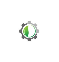 Creative gear leaf agricultural technology logo vector