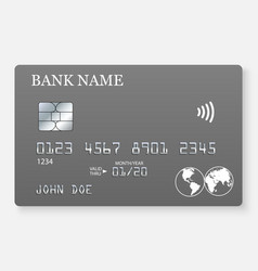 credit card realistic mockup vector image