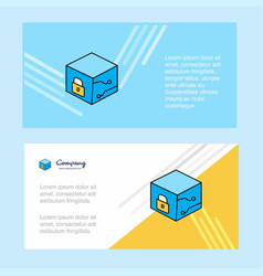 cube abstract corporate business banner template vector image
