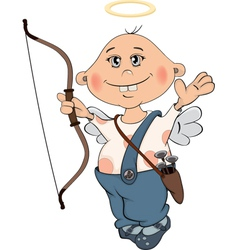 Cupidon boy cartoon vector
