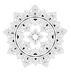 decorative ethnic mandala pattern anti-stress vector image