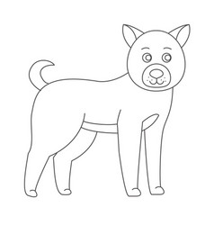 Dog for coloring boo vector