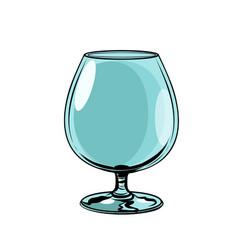 empty glass goblet vector image