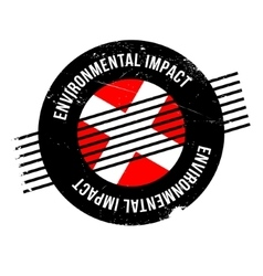 Environmental Impact rubber stamp vector