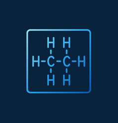 Ethane chemical structure linear colored vector