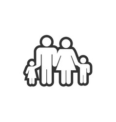 family icon design template vector image