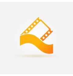 Film strip concept logo or icon vector image
