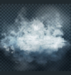 Fog and smoke isolated on transparent background vector