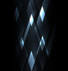 Fractal crystal shine abstract dark background vector