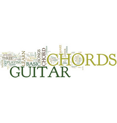 Free lesson on basic guitar chords text vector