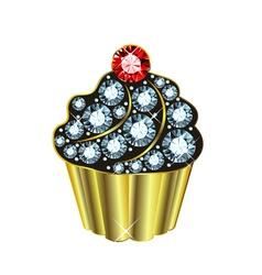 Gem Cupcake vector