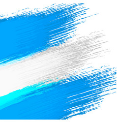 grunge background in colors argentinian flag vector image