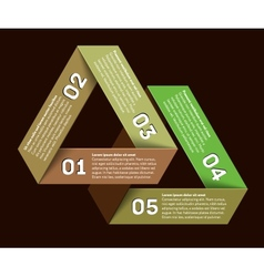 Infographics with impossible triangle with vector image