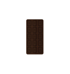 isolated chocolate bar flat icon confection vector image