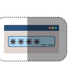 Isolated password design vector