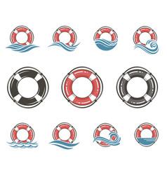 Lifebuoy symbol set vector